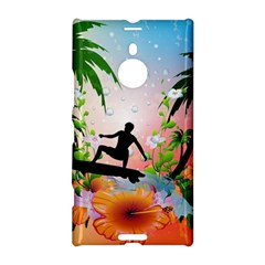 Tropical Design With Surfboarder Nokia Lumia 1520