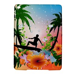 Tropical Design With Surfboarder iPad Air 2 Hardshell Cases