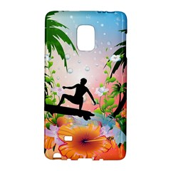 Tropical Design With Surfboarder Galaxy Note Edge