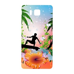 Tropical Design With Surfboarder Samsung Galaxy Alpha Hardshell Back Case