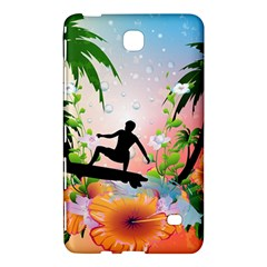 Tropical Design With Surfboarder Samsung Galaxy Tab 4 (7 ) Hardshell Case