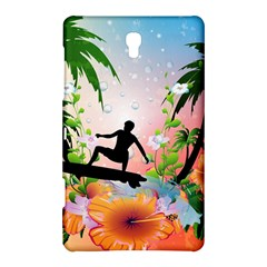 Tropical Design With Surfboarder Samsung Galaxy Tab S (8.4 ) Hardshell Case