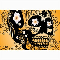 Sugar Skull In Black And Yellow Collage 12  X 18