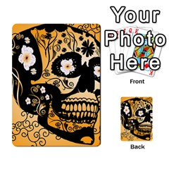 Sugar Skull In Black And Yellow Multi-purpose Cards (Rectangle)
