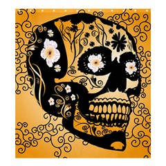 Sugar Skull In Black And Yellow Shower Curtain 66  x 72  (Large)