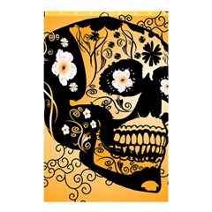 Sugar Skull In Black And Yellow Shower Curtain 48  x 72  (Small)