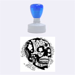 Sugar Skull In Black And Yellow Rubber Round Stamps (Medium)