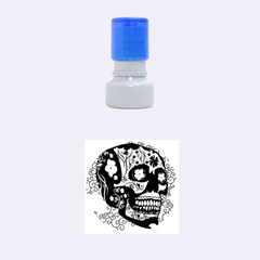 Sugar Skull In Black And Yellow Rubber Round Stamps (Small)