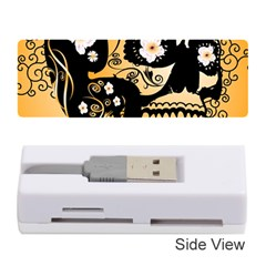 Sugar Skull In Black And Yellow Memory Card Reader (Stick)
