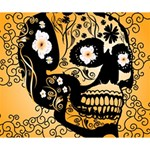 Sugar Skull In Black And Yellow Deluxe Canvas 14  x 11  14  x 11  x 1.5  Stretched Canvas