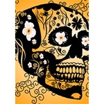 Sugar Skull In Black And Yellow Heart Bottom 3D Greeting Card (7x5)  Inside