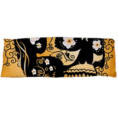 Sugar Skull In Black And Yellow Body Pillow Cases Dakimakura (Two Sides)
