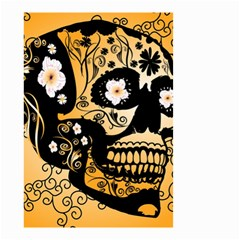 Sugar Skull In Black And Yellow Small Garden Flag (Two Sides)