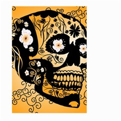 Sugar Skull In Black And Yellow Large Garden Flag (Two Sides)
