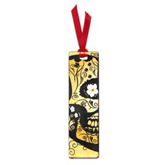 Sugar Skull In Black And Yellow Small Book Marks