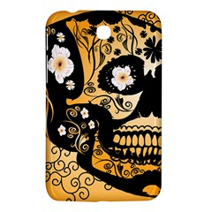 Sugar Skull In Black And Yellow Samsung Galaxy Tab 3 (7 ) P3200 Hardshell Case