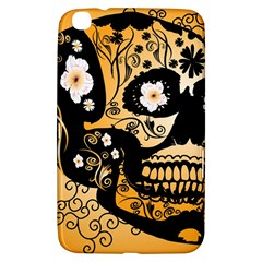 Sugar Skull In Black And Yellow Samsung Galaxy Tab 3 (8 ) T3100 Hardshell Case