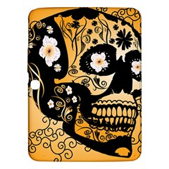 Sugar Skull In Black And Yellow Samsung Galaxy Tab 3 (10.1 ) P5200 Hardshell Case