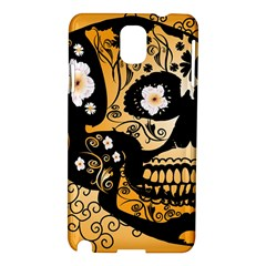 Sugar Skull In Black And Yellow Samsung Galaxy Note 3 N9005 Hardshell Case