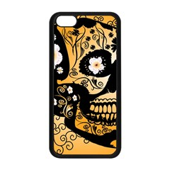 Sugar Skull In Black And Yellow Apple Iphone 5c Seamless Case (black)