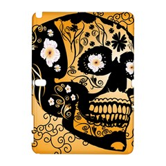 Sugar Skull In Black And Yellow Samsung Galaxy Note 10.1 (P600) Hardshell Case