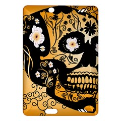 Sugar Skull In Black And Yellow Kindle Fire HD (2013) Hardshell Case