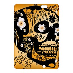 Sugar Skull In Black And Yellow Kindle Fire HDX 8.9  Hardshell Case