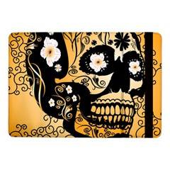 Sugar Skull In Black And Yellow Samsung Galaxy Tab Pro 10.1  Flip Case