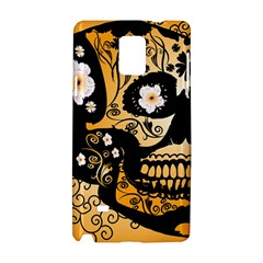 Sugar Skull In Black And Yellow Samsung Galaxy Note 4 Hardshell Case