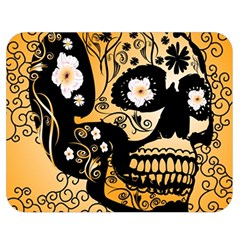 Sugar Skull In Black And Yellow Double Sided Flano Blanket (medium)