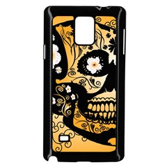 Sugar Skull In Black And Yellow Samsung Galaxy Note 4 Case (black)