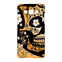 Sugar Skull In Black And Yellow Samsung Galaxy A5 Hardshell Case
