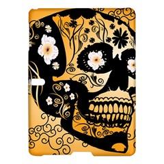 Sugar Skull In Black And Yellow Samsung Galaxy Tab S (10.5 ) Hardshell Case