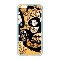 Sugar Skull In Black And Yellow Apple Seamless iPhone 6/6S Case (Color)