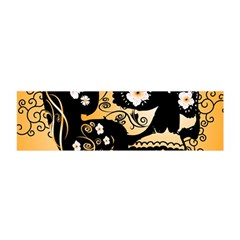 Sugar Skull In Black And Yellow Satin Scarf (oblong)