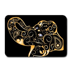 Beautiful Elephant Made Of Golden Floral Elements Plate Mats