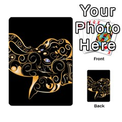 Beautiful Elephant Made Of Golden Floral Elements Multi-purpose Cards (Rectangle)