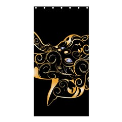 Beautiful Elephant Made Of Golden Floral Elements Shower Curtain 36  X 72  (stall)