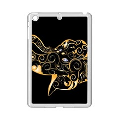 Beautiful Elephant Made Of Golden Floral Elements iPad Mini 2 Enamel Coated Cases
