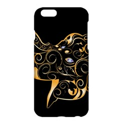Beautiful Elephant Made Of Golden Floral Elements Apple iPhone 6 Plus/6S Plus Hardshell Case