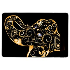 Beautiful Elephant Made Of Golden Floral Elements iPad Air 2 Flip