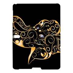 Beautiful Elephant Made Of Golden Floral Elements Samsung Galaxy Tab S (10.5 ) Hardshell Case