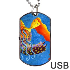 Aquarius  Dog Tag USB Flash (Two Sides)