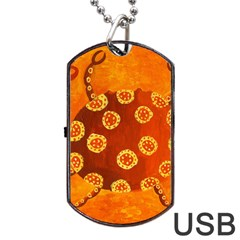 Cancer Zodiac Sign Dog Tag Usb Flash (one Side)