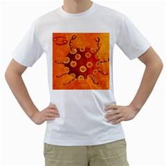 Cancer Zodiac Sign Men s T-Shirt (White)