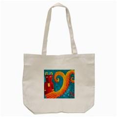 Capricorn Zodiac Sign Tote Bag (Cream)