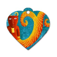 Capricorn Zodiac Sign Dog Tag Heart (Two Sides)
