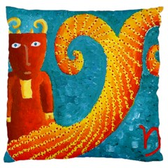 Capricorn Zodiac Sign Large Cushion Cases (One Side)