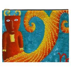 Capricorn Zodiac Sign Cosmetic Bag (XXXL)