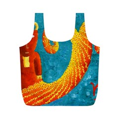 Capricorn Zodiac Sign Full Print Recycle Bags (M)